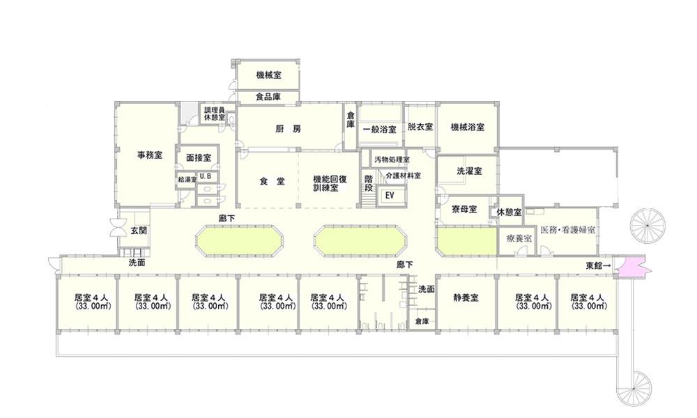 桜谷荘西館1階